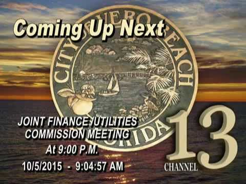 CITY OF VERO BEACH FINANCE - UTILITIES COMMISSION MEETING 10/05/2015 - PART 1