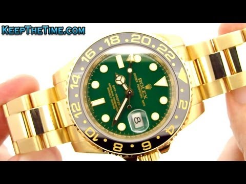 Rolex 116718 GMT-Master II Sold 18K Gold Z Serial (KeepTheTime.com)
