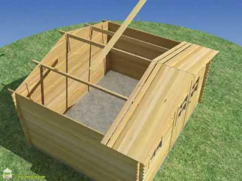 Instalar casetas de madera espace nature for Casetas jardin leroy merlin