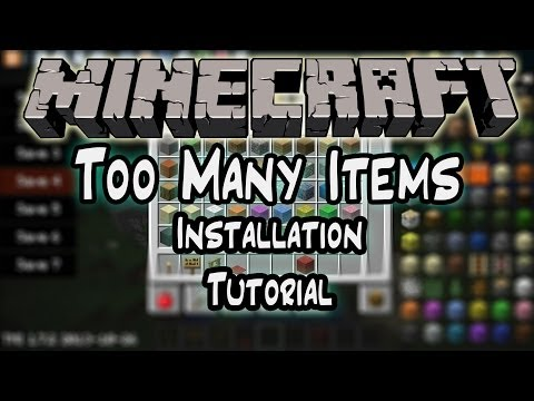 How to Install Too Many Items 1.7.2+ | Windows 7 & 8