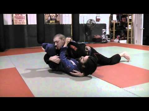 Triangle Choke Submission From Bottom Side Control - BJJ Image 1
