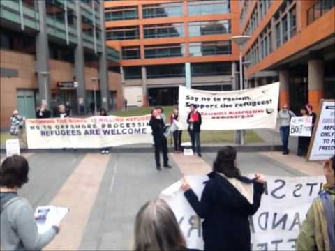 No Offshore Processing No Return to the Pacific Solution Rally