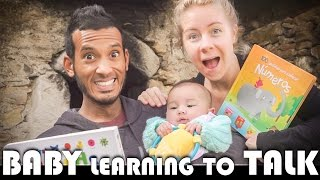 👶 BABY LEARNING TO TALK! - FAMILY VLOGGERS DAILY VLOG