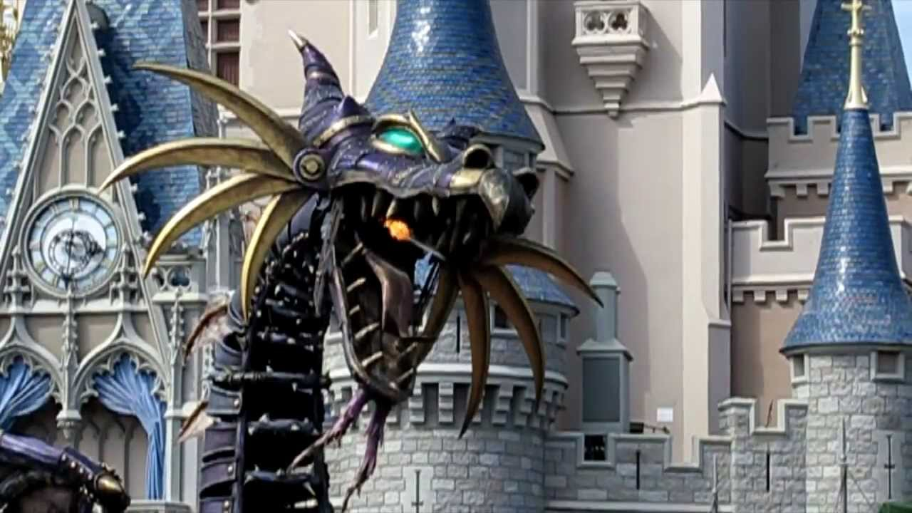 firebreathing maleficent steampunk dragon in disney
