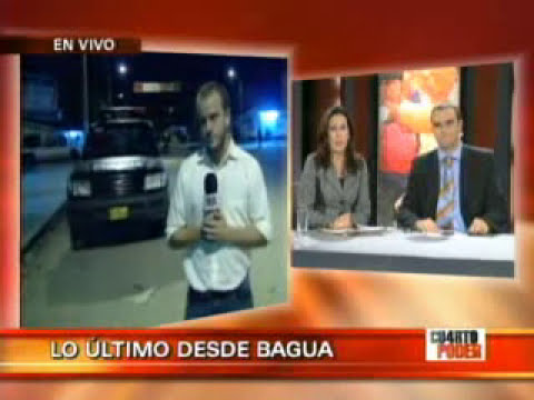 Violencia en Bagua fue planificada Rescate policias masacrados