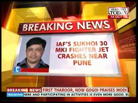 IAF'S Sukhoi Fighter jet crashes near Pune: 2 pilots eject