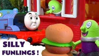Funny Funlings at McDonalds Drive Thru with Thomas Trains and Disney Cars TT4U
