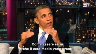 Barack Obama al David Letterman (part 1)