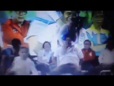 Go-go dancing at political rally in Laguna