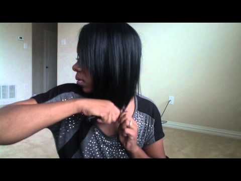 How I cut my asymmetrical Bob