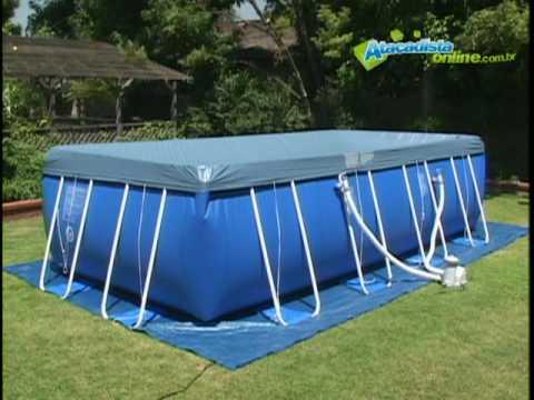 Limpeza e manuten o piscinas intex youtube for Intex piscinas