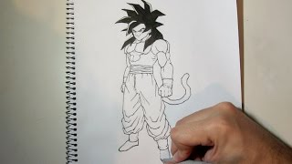 download lagu How To Draw Goku Ssj4 Full Body Step By gratis