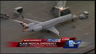 Flight diverted to Milwaukee due to medical emergency