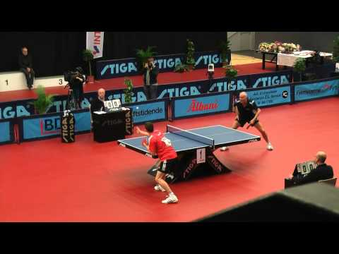 DM Finale 2012 i Bordtennis - Jonathan Groth vs Allan Bentsen