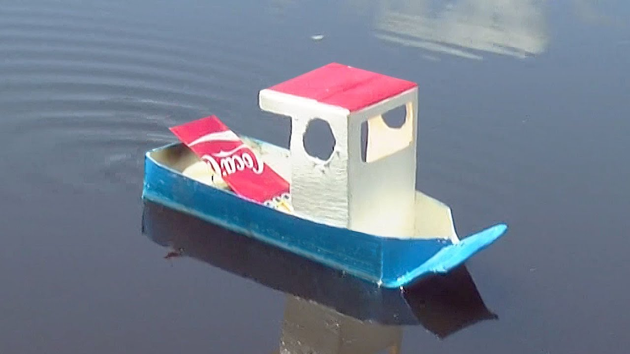 How To Make A Simple Pop Pop Boat Youtube