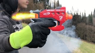 Rocket powered Nerf Gun !! Amazing Launch