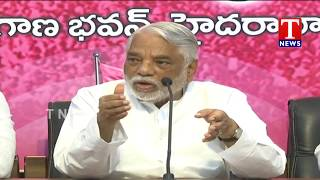 TRS MPs Press Meet Over Kerala Floods | MPs donate 1 month's pay  live Telugu