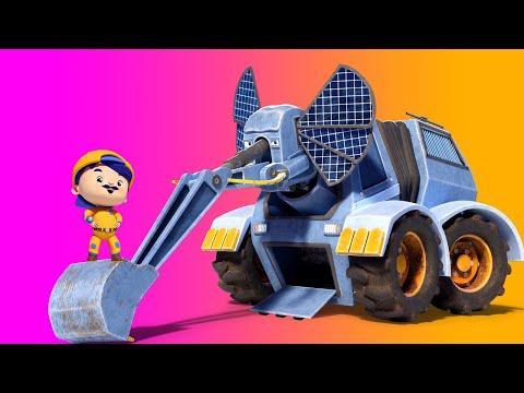 Animacars - Cel mai mare elefant - desene cu animale - desene pentru copii cu camioane si animale