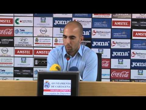 Miguel Cuesta en previa Cartagena-Cádiz (05-12-14)