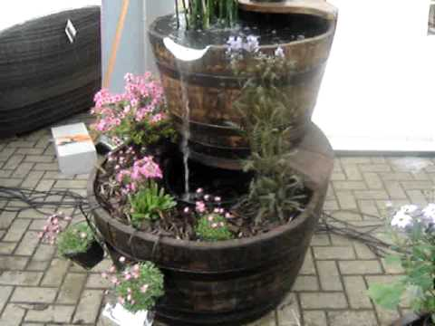 38 Quot 2 Tier Oak Barrel Water Feature By Yorkshire Water Features Youtube