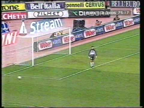 LEEDS UNITED at Roma 2000 the fans, the football and stabbing news items