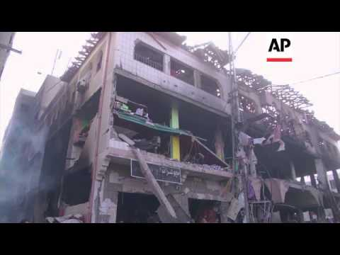 Israeli airstrike levels 7-story building in Gaza, seven injured, Israeli cabinet meeting