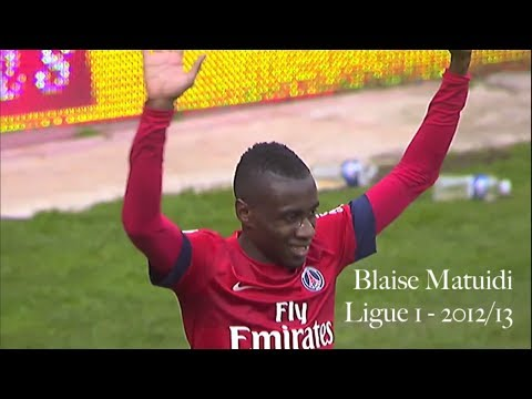 Blaise Matuidi - Skills, Goals and Passes for Paris Saint-Germain in Ligue 1 - 2012/13