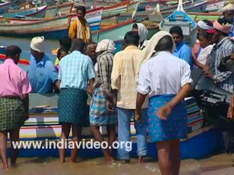 Fishing Village Vizhinjam beach Kerala