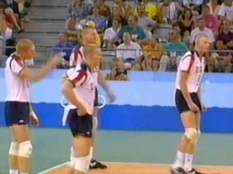 '92 Men's Olympic Volleyball: USA vs Brazil Set 2