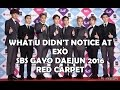 [HOT] WHAT U DIDN'T NOTICE AT EXO SBS GAYO DAEJUN 2016 - RED CARPET