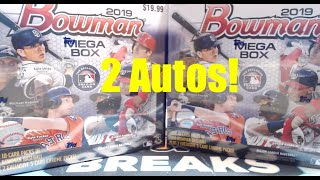 2019 Bowman Mega Box 2 Box Break ** Mojo Refractors & 2 Autos! **  Target Exclusive