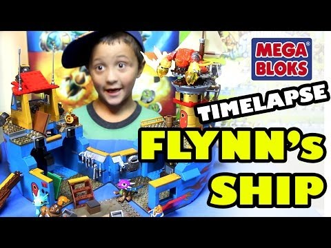 MEGA Bloks Flynn's Rescue Ship Timelapse Build w/ Flynn, Magna Charge & Hot Head