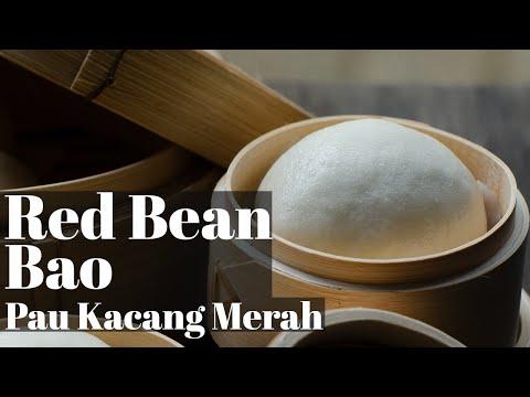Red Bean Steamed Buns / Kuih Pau Kacang Merah