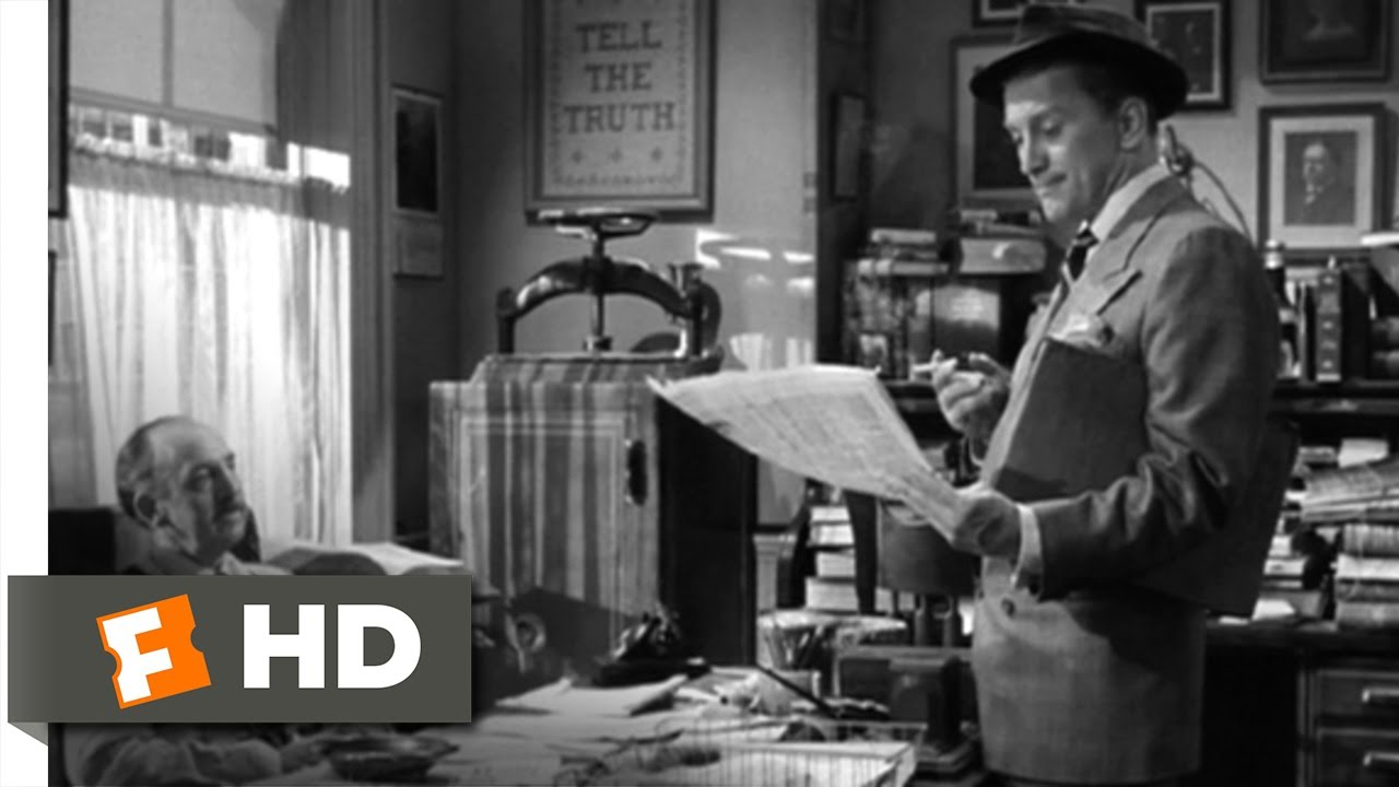 Ace in the Hole (1951 film) movie scenes Ace in the Hole 1 8 Movie CLIP I Know Newspapers Backward Forward and Sideways 1951 HD