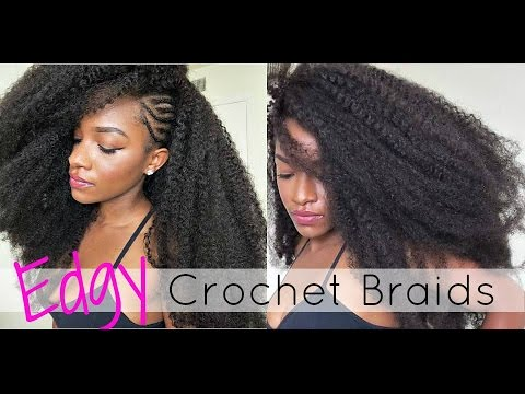 ... ?Versatile Crochet Braids w/ Side Braids (Marley Hair) - YouTube