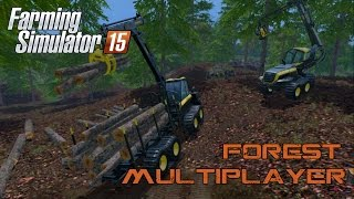 Farming Simulator 15 - First Multiplayer Foresting!