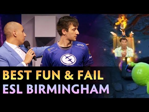 BEST FUN and FAIL moments of ESL One Birmingham 2019