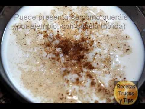 Arroz con leche. POSTRE FÁCIL Y RÁPIDO (receta casera de la abuela) RecetasTrucosyTips