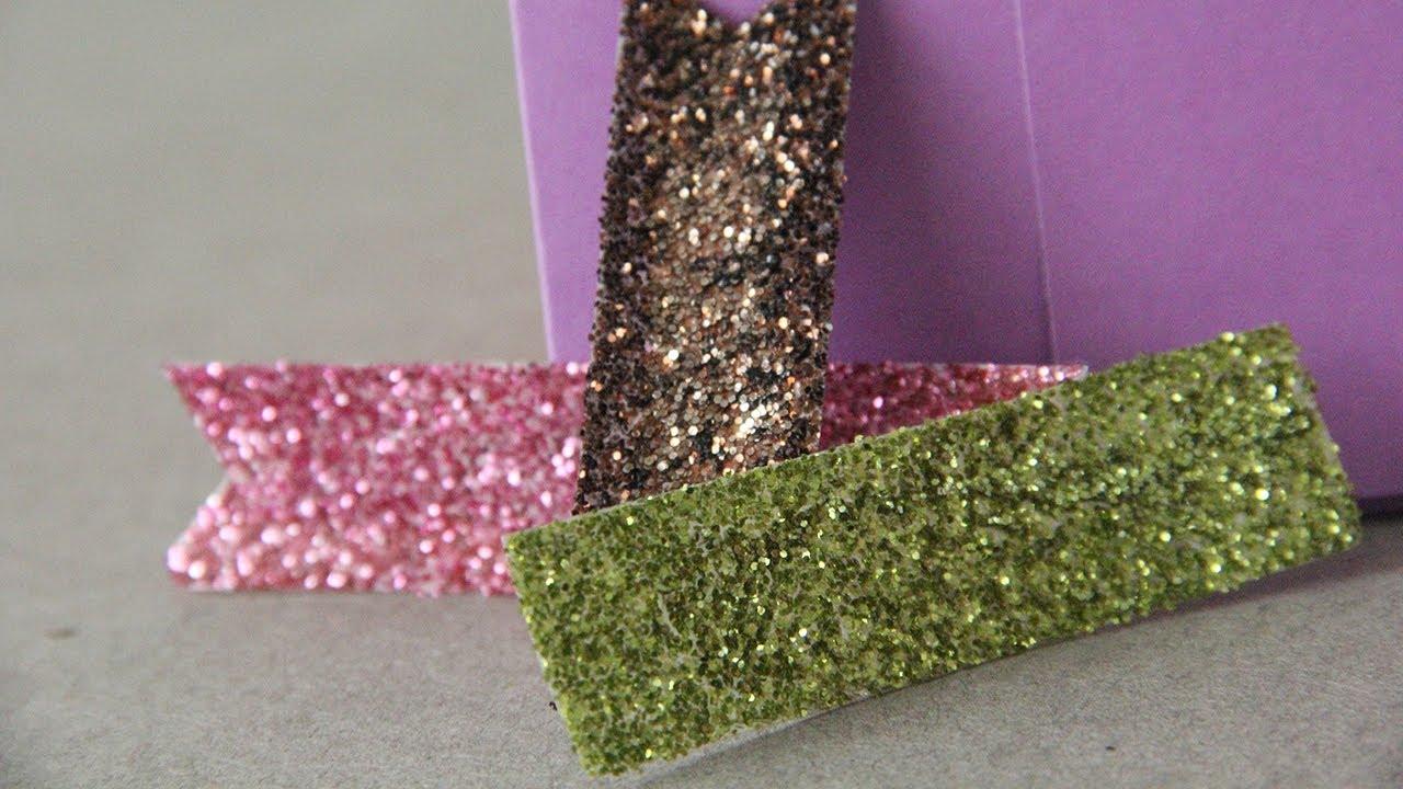 Cinta glitter para decorar tus manualidades youtube - Cintas para decorar ...