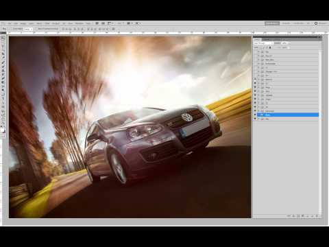 Making of VW Golf Retouching, by Harniman automotive photographer