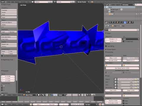 How To Create Glossy Text In Blender And Cinema 4D  Tutorial