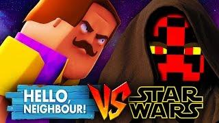 STAR WARS VS HELLO NEIGHBOUR - SECRET JEDI Minecraft Challenge