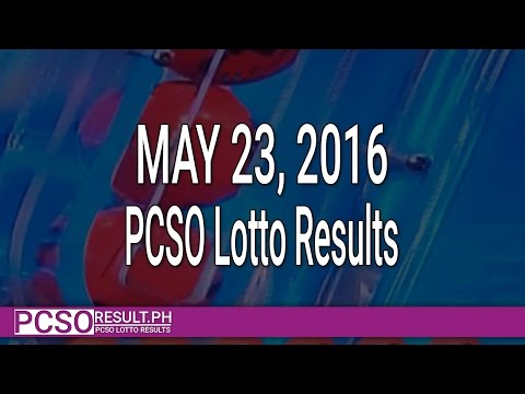 PCSO Lotto Results May 23, 2016 (6/55, 6/45, 4D, Swertres & EZ2)