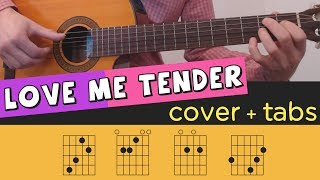 LOVE ME TENDER - Guitar Cover // Lesson // Fingerstyle // Tutorial // Tab