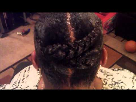 Molding natural hair for quick weave