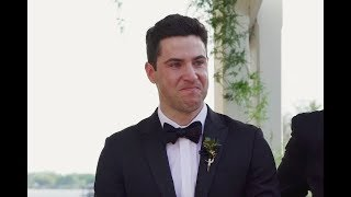You Will Cry Watching This Groom Try To Hold Back His Tears |  KEJProductions