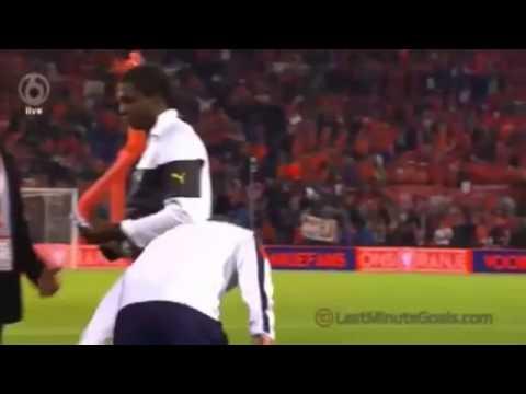 Wesley Sneijder's pantsed Sulley Muntari after the Holland v Ghana Match 2014