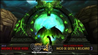 """Guía de Brujo """"Fuego Verde"""" - Tras la Cosecha Oscura 3: Inicio de la gesta y Relicario"""