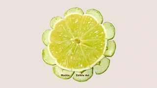 Simple And Easy Lime Button Flower - Beginners 65 By Mutita Art Of Fruit And Vegetable Carving Video