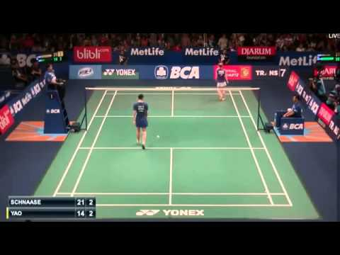 2015 BCA Indonesia Open R32 [WS] Karin SCHNAASE vs YAO Xue (Sports)
